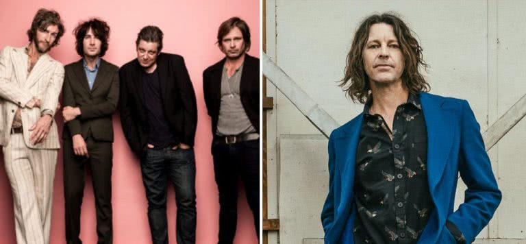 2 panel image of You Am I and Bernard Fanning, two Aussie artists coming together to play a benefit concert for Kate Stewart