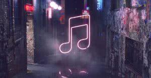 apple music neon sign