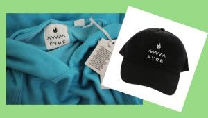 Fyre Festival merchandise auctioned by Gaston & Sheehan Auctions.